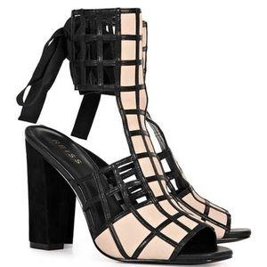 Reiss Lattice Caged Heels